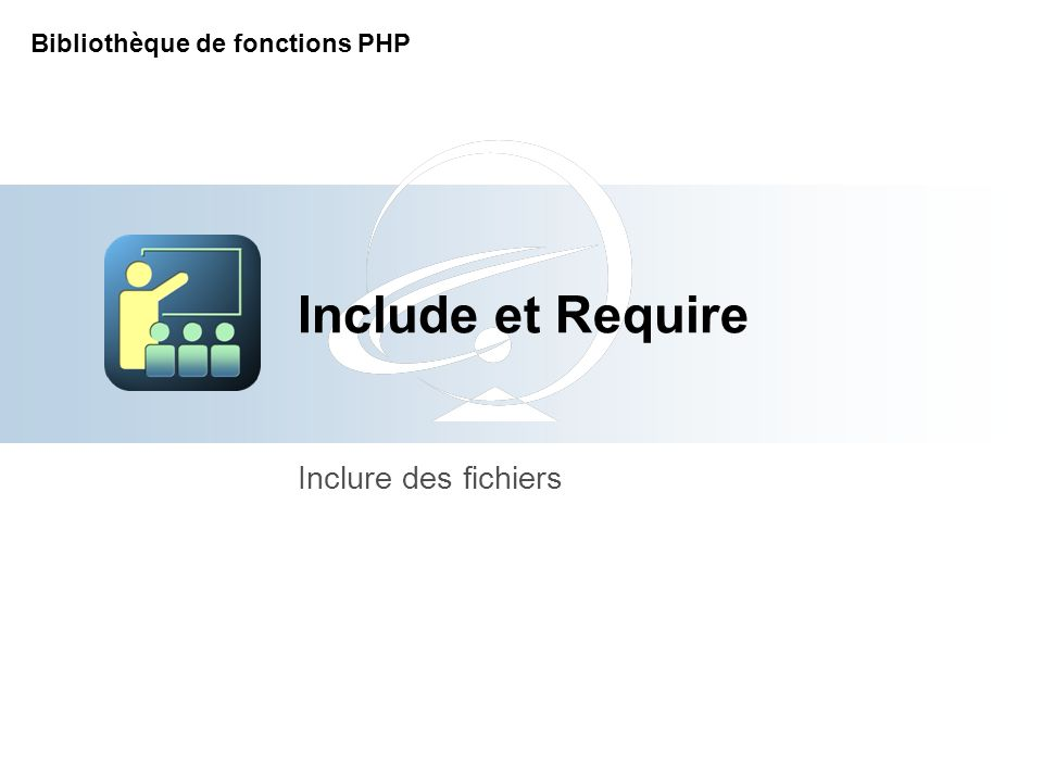 [Title of the course] Inclure des fichiers